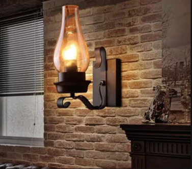 This image consists of Vintage look Metallic Wall Lamp.